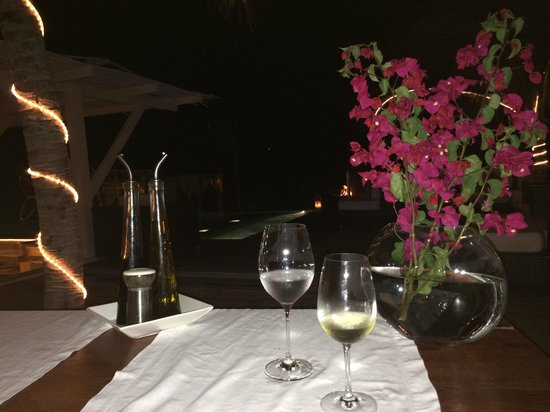 The Chili Beach Boutique Hotel & Resort: last evenings meal setting