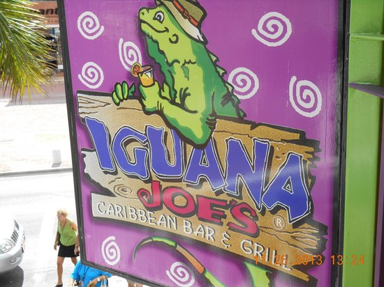 Iguana Joe's Caribbean Bar & Grill : Outside sign
