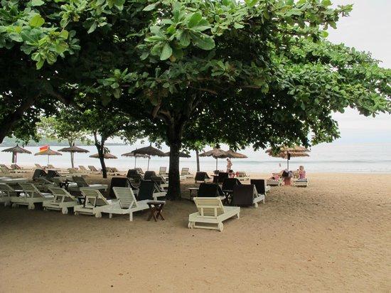 Keraton Jimbaran Beach Resort: Ağaçların altında...