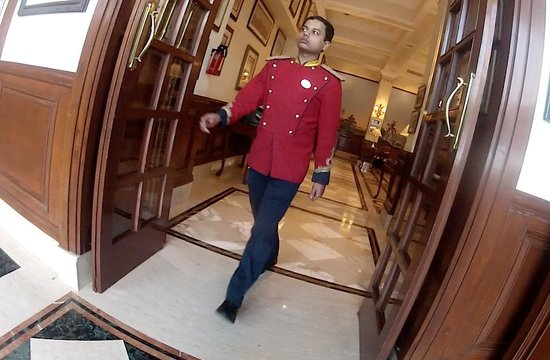 The Imperial Hotel: In the U.S. this uniform would be on the ringmaster at a circus