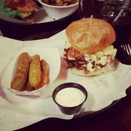 Mamo Burger Bar : Deep fired Pickles ...   YUMMY