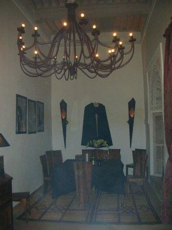 Riad Anyssates : The dining area