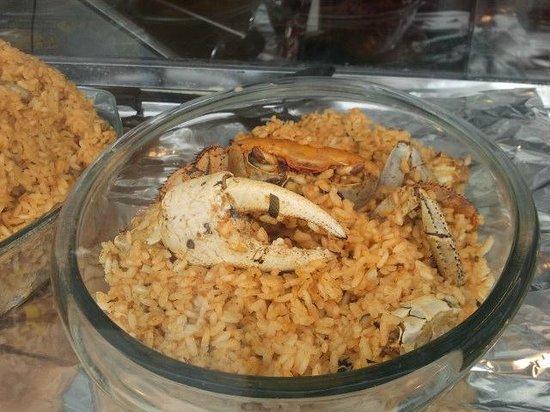 Wyndham Grand Rio Mar Beach Resort & Spa : Local dish- Rice with Crab- Kioskos of Luquillo