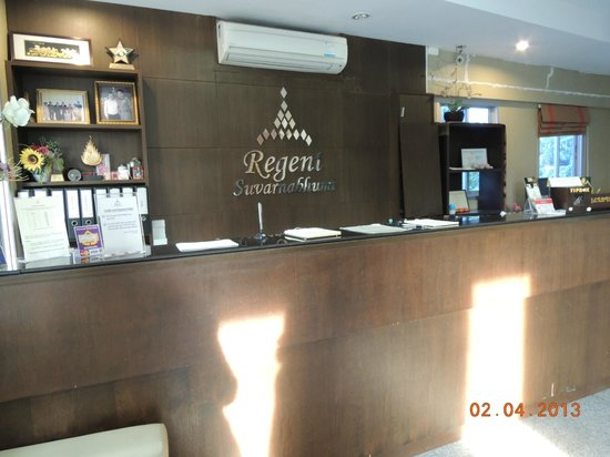 Regent Suvarnabhumi Hotel: Hotel Reception