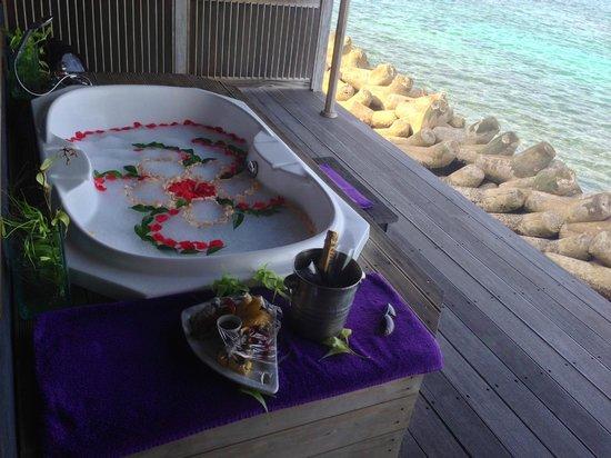 Kuredu Island Resort & Spa : Le SPA O'Resort avec sa vue en formule Full Magic.