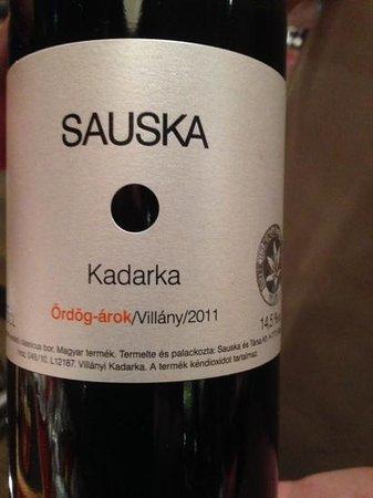 Kempinski Hotel Corvinus Budapest: great red wine
