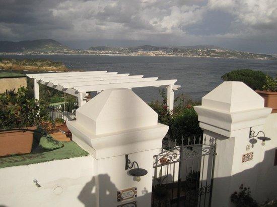 B&B Dea Fortuna: View across the terrace