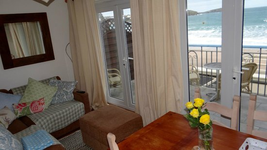 Tolcarne Beach Apartments : View from the living room
