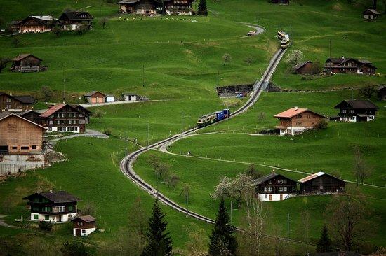Grindelwald, Zwitserland: Train from Jungfrau