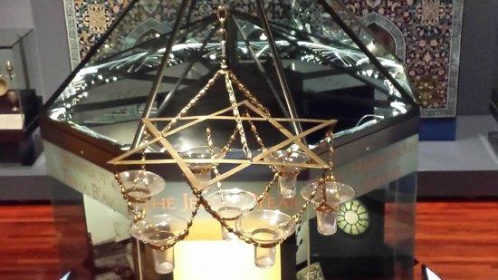 The Jewish Museum: Star of David light fixture