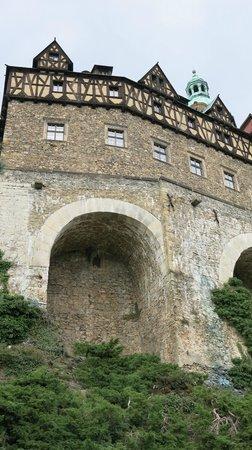 Ksiaz Castle: Крепостные стены Замка Ксенж (вид с террас)