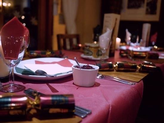 The Albert: christmas party tables
