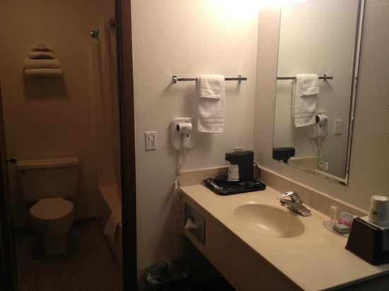 Travelodge Deer Lodge Montana : Standard Bathroom and vanity