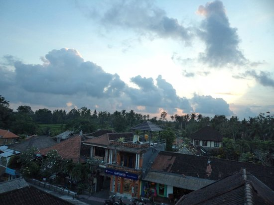 Brata Inn: Twilight in Ubud.