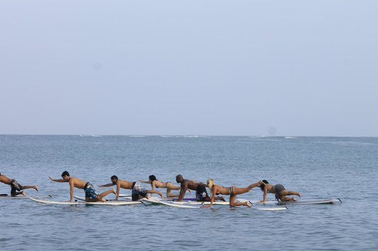 Blossom - Day Lessons : Trying to find balance at Yoga SUP Session