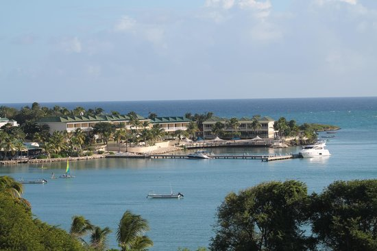 St. James's Club & Villas: VIew of the resort from the bay side