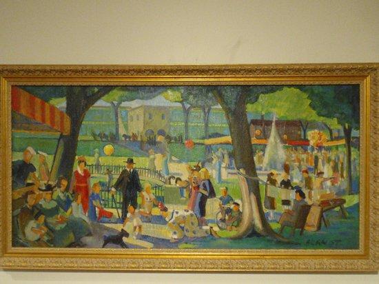 Biggs Museum of American Art: Untitled (Flower Market), 1930s - Bayard T. Berndt