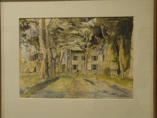 Biggs Museum of American Art: Village Corner Leipsic Del., 3/14/37 - Jack Lewis (b. 1912)