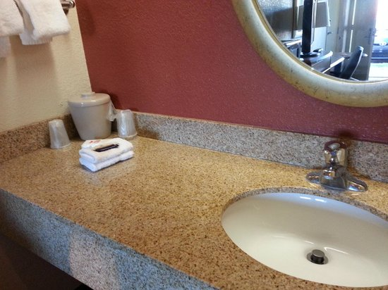 Red Roof Inn Pensacola   West Florida Hospital: Sink Area