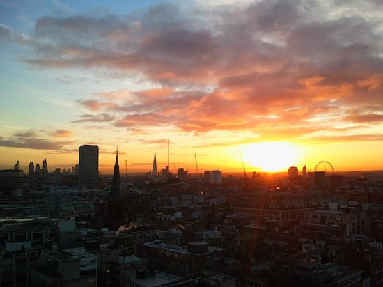 The Heights: Sunset over london