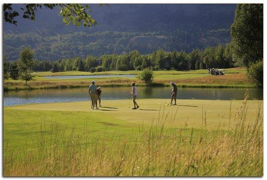 Teton Pines Country Club: Beautiful evening golf