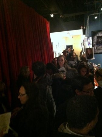 Audience waiting in line for Blogologues Fame: Show Us Your Tweets. #twerkingtothetop (Nov 2013)
