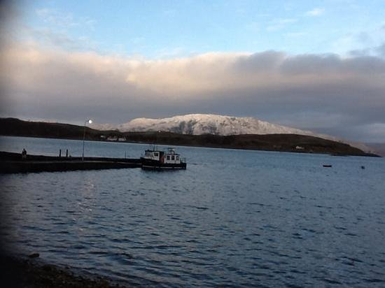 The Pierhouse Hotel: view accross to Lismore from the hotel
