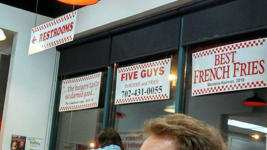Five Guys : I tell you..You can believe what you read!