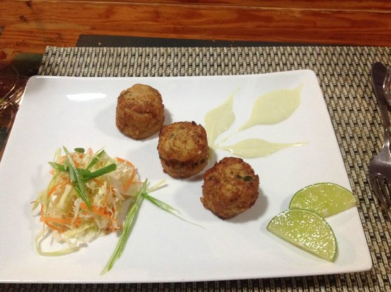 Exuma Palms Hotel: amazing Hog Snapper Fish Cakes