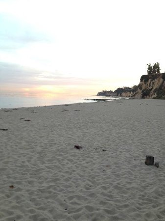 Paradise Cove Beach Cafe: view from Paradise Cove JUST before sunset