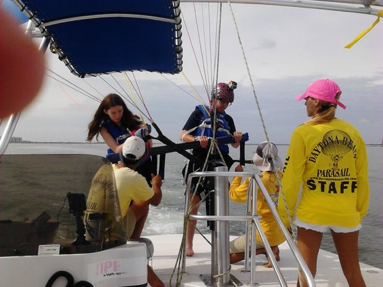 Wyndham Ocean Walk: Parasailing Area Activity $65 per person for 600 feet and they take you higher so pay lowest amo