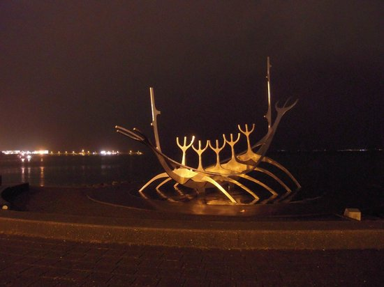 Solfar (Sun Voyager) Sculpture : Taken with an old compact camera.