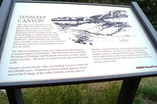 US Highway 16: Ten Sleep canyon sign