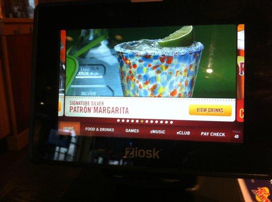 Red Robin Gourmet Burgers: Tablette numérique