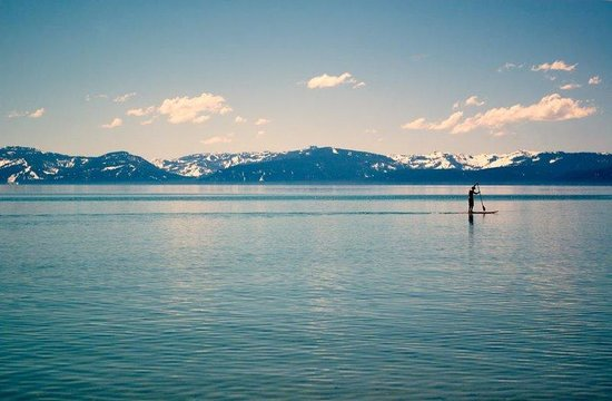Tahoe Lakeshore Lodge and Spa: Paddle Boarder
