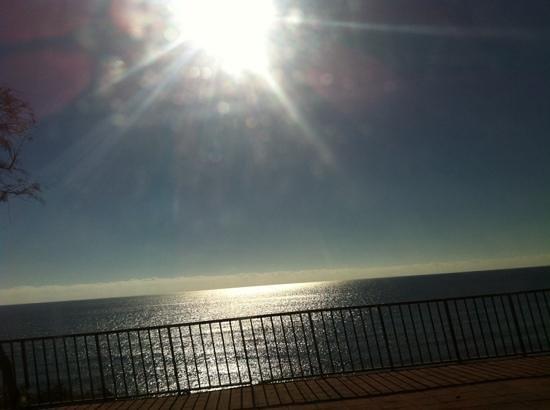 Vime la Reserva de Marbella : coucher de soleil sur Marbella ... un soir de decembre 2013 .