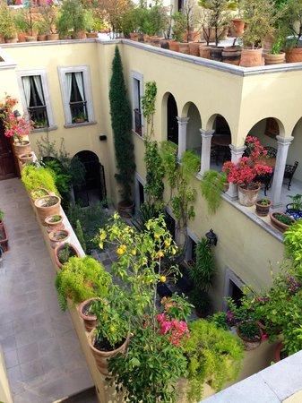 Casa Misha: Courtyard View from the Rooftop Veranda