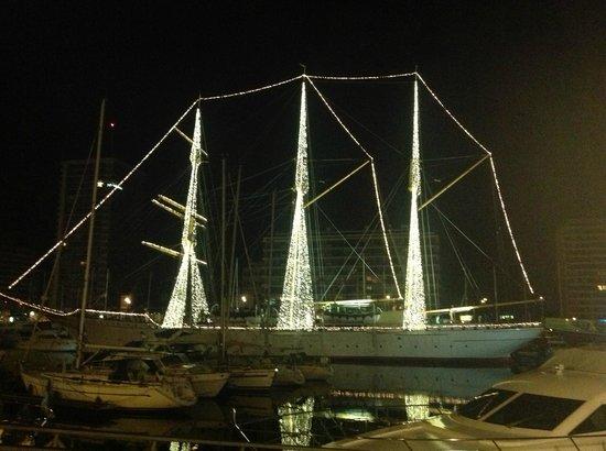 Hotel Burlington : The Zeilschip Mercator - in the marina beside the hotel