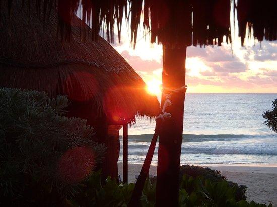 Coco Tulum: En amanecer desde la cabaña