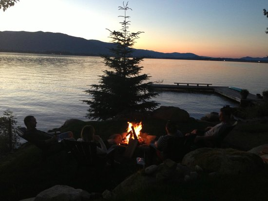 Sleeps Cabins: So relaxed after a day on the lake!