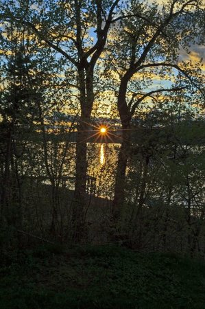 Sleeps Cabins: spring sunset from cabin # 5
