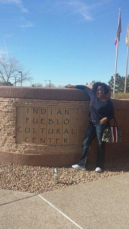 Indian Pueblo Cultural Center: Me at the entrance