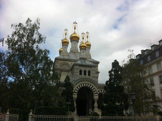 Eglise Russe : Русская церковь в Женеве