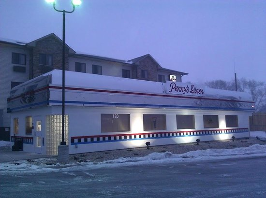 Penny's Diner Exterior Winter