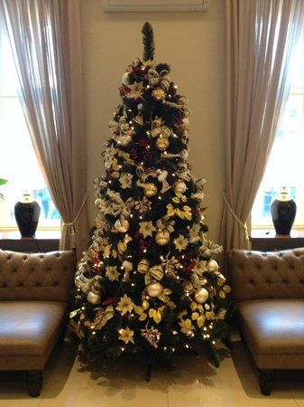 Metropolitan Boutique Hotel : Christmas Tree in the Reception area