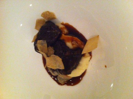 Restaurant Kuppelrain: guanciale di vitello su letto di purea