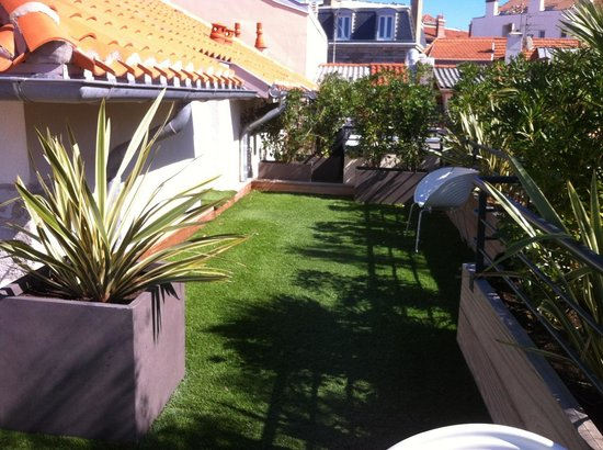 Hotel de Silhouette : la terrasse