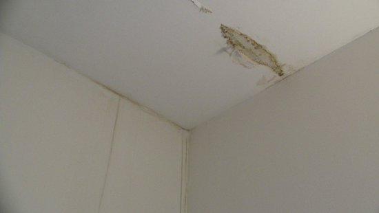 Jerabek Hotel: giant spot of mold on the ceiling