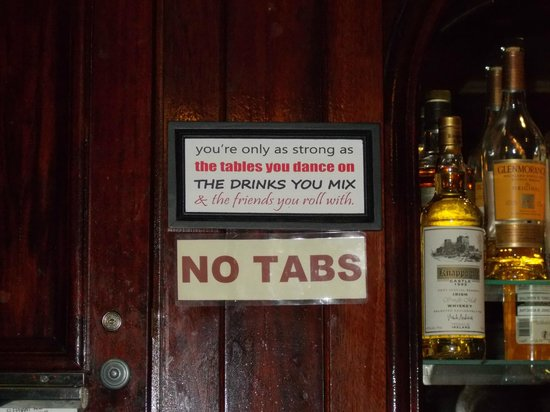 Elephant and Barrel Village Pub : Good advice