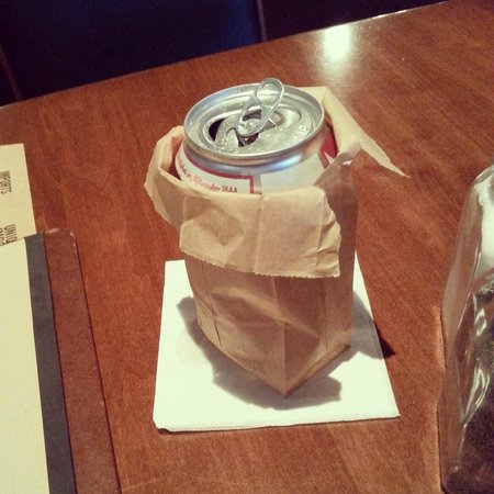 Brick House Tavern Tap Beer Can In A Paper Bag